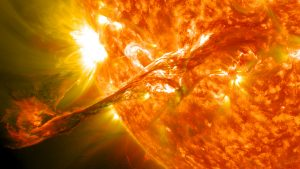 global warming myth. solar flare image