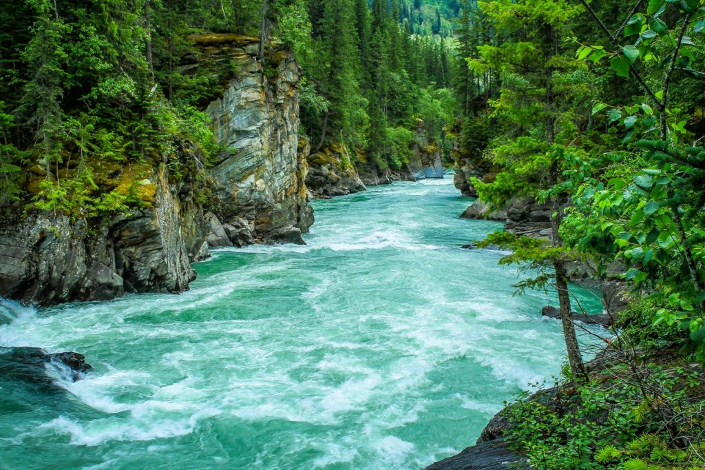 Beautiful blue green river